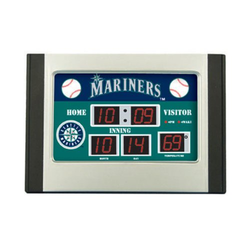 MLB Seattle Mariners Scoreboard Desk Clock