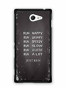 YuBingo Just Run Designer Mobile Case Back Cover for Sony Xperia M2