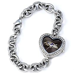 Baltimore Ravens Gametime Heart Bracelet/Watch
