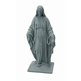 Emsco Group 2291 Poly Virgin Mary Statue Granite 34-Inch