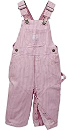 Lakin McKey 223 Infant\'s Premium Washed Bib Overall Pink Stripe 12 Months