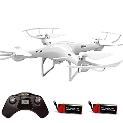 Cheerwing CW4 RC Drone with 720P HD Camera, Altitude Hold Mode and One Key Take Off / Landing - 2.4Ghz 4CH RC Quadcopter Includes Bonus Battery from Cheerwing