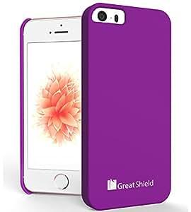 GreatShield Guardian Series HQ Ultra SLIM Rubberized Hard Case for Apple iPhone 5 (Purple)