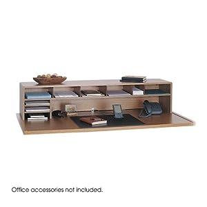 Hot 58 W Low Profile Desk Top Organizer Medium Oak Office Desk Organizers Electronics O Cd Or Dvd Disc Media Storage