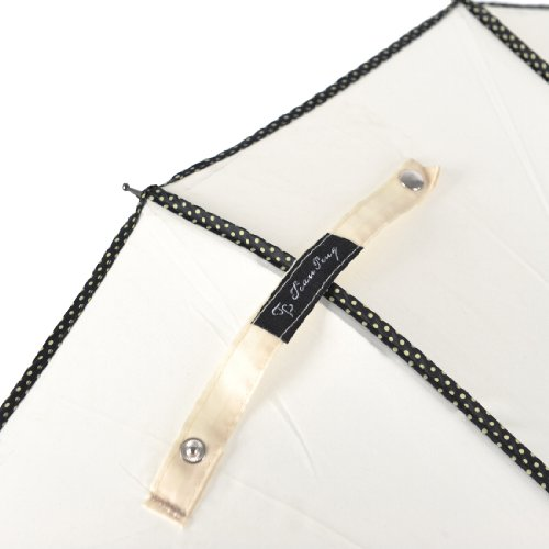 "Remedios 35"" Vintage Hook Handle Stick Pagoda Nylon Sun Parasol Wedding Umbrella, Ivory 3"