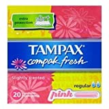 THREE PACKS of Tampax Compak Fresh Regular x 20