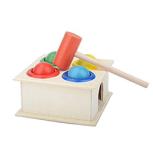 Ball Drop Toy : Ihome ilife children s educational colored wooden pounding
