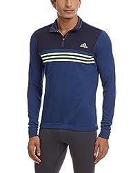 adidas Men's Polyester Sweatshirt (4055015003382_A08482_X-Small_Grey, Bold Blue and Light Yellow)