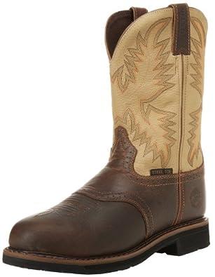 Justin Original Work Boots Men's Stampede Steel Toe Work Boot,Waxy Brown/Sawdust,6 D US