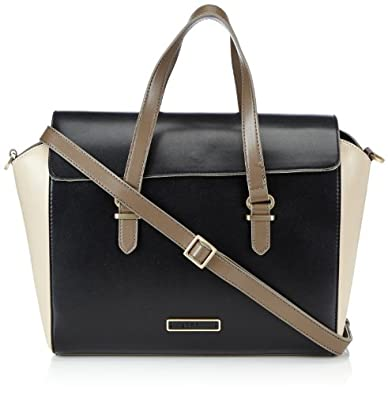 ESPRIT Womens Edle City Bag mit zwei Tragemöglichkeiten Handbag Black Schwarz (BLACK 001) Size: 32x25x12 cm (B x H x T)