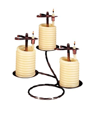Candle by the Hour Set of 3 36-Hour Candles with Spiral Candleholder