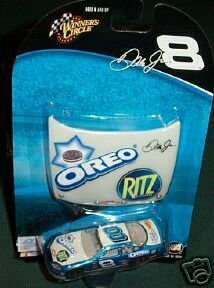 2004 Dale Earnhardt Jr Blue Oreo Busch Daytona 3 Peat Color Scheme 1/64 Scale & 1/24 Scale Hood Winners Circle