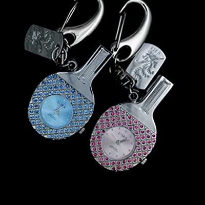 Pink Table tennis Bat CLOCK 8GB Fashion Crystals Jewelry USB 2.0 Flash Memory Pen Drive Pendant for Keychain by pengyuan