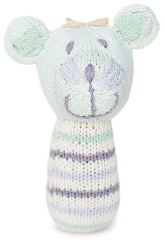 Finn + Emma Organic Cotton Baby Girl Mini Rattle - Mouse - 1