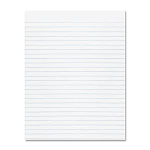 """Pacon Composition Paper, 8 1/2""""X11"""", 3/8"""" No Margin, White, 500 sheets"""
