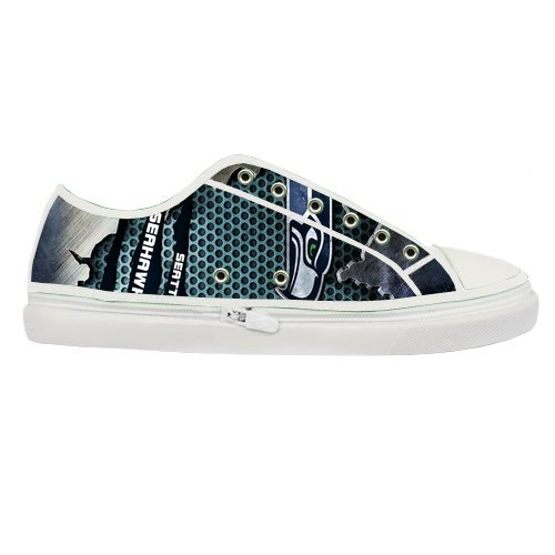Brand New Custom Seattle Seahawks Canvas Shoes for Women White at Amazon.com