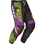 Fly Racing F-16 Race Motocross Pants Black/Purple LTD 28 Short 365-53928S