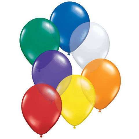 "16"" Assorted Jewel Tones Latex Balloons (10 ct) - 1"