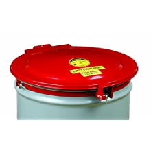 Justrite 26753 New Self-Latching Safety Drum Cover with Vent and Gasket for 55 Gallon Drum