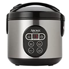 Aroma ARC-914SBD 4-Cup (Uncooked) 8-Cup (Cooked) Digital Rice Cooker and Food Steamer