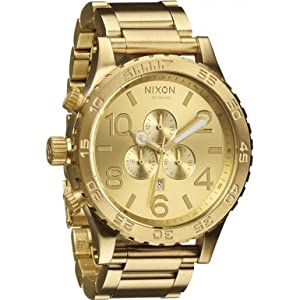 Nixon The 51-30 Chrono Gold-Tone Stainless Steel Mens Watch A083502