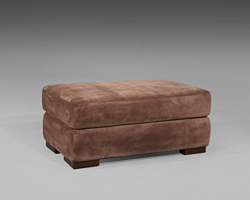 Valentia Home Madison Ottoman, Minx/Brown Sugar - 1