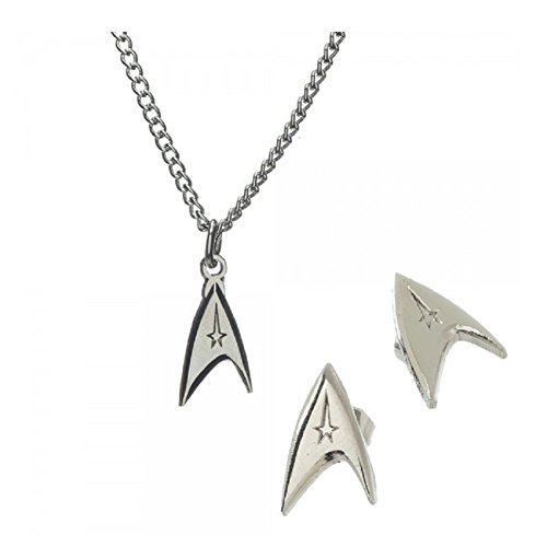 Star Trek Logo Necklace & Earring Jewelry Set