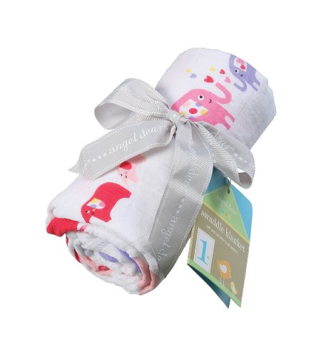 Angel Dear 3542 Swaddle Blanket, Elephant