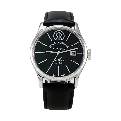 REVUE-THOMMEN-Mens-1010102-1853-Classic-Analog-Display-Swiss-Automatic-Black-Watch