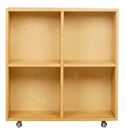 BioKinder 22246 Shelf su ruote per Luca fasciatoio 85x80x30. Biological Alderwood massiccia