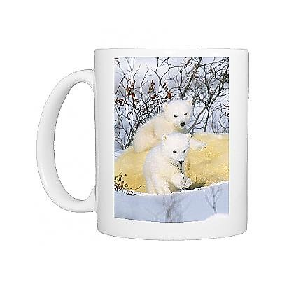 Photo Mug Of Polar Bear Cubs - On Mother front-948364