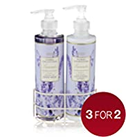 Floral Collection Lavender Twin Rack Gift Set