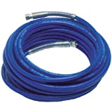 "EZ Kote Paint Spray Nylon Hose Assembly, Blue, 3/8"" Female Swivel x Female Swivel w/ Spring Guards, 3300 PSI Max Pressure, 3/8"" Hose ID, 50' Length"