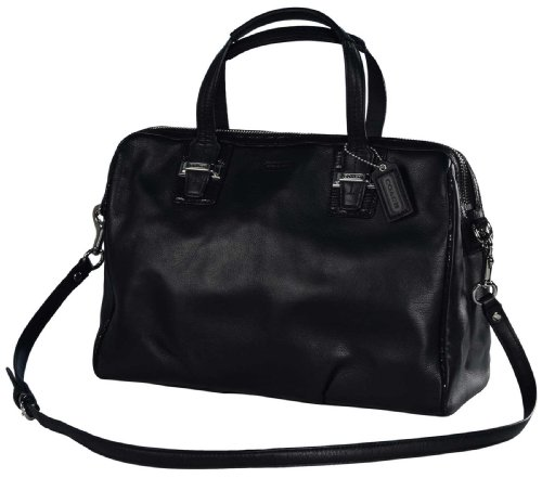9fa0aecd98 Coach Women s Leather Taylor Satchel Purse Handbag Black ...
