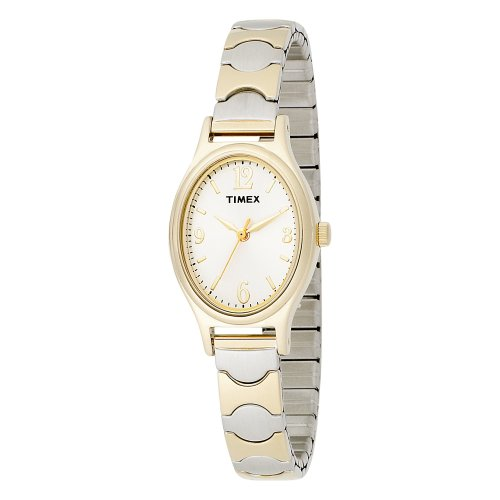 Timex Women's T26301 Elevated Classics Dress Two-Tone Expansion Band Watch