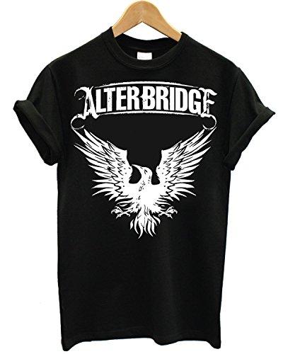 T-shirt Uomo - Alter Bridge maglietta con stampa rock band 100% cotonee LaMAGLIERIA,M, Nero