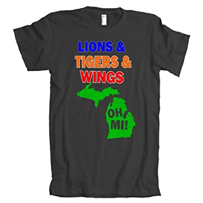 Lions Tigers Wings Oh MI American Apparel T-Shirt