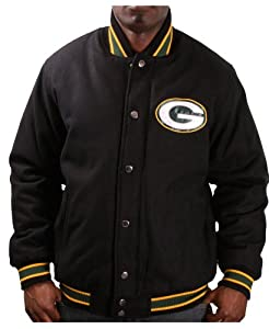 Green Bay Packers NFL Apparel Mens Varsity Jacket Coat by NFL