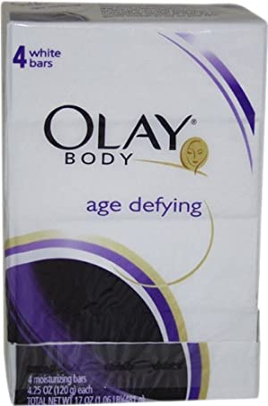 Body Age Defying White Moisturizing Bar By Olay for Women, 4 Ounce