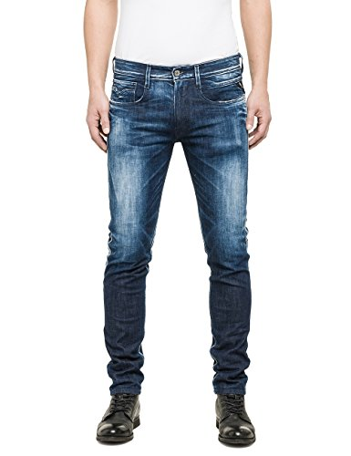 Replay - Anbass, Jeans da uomo, blu (blau  (blue denim 9)), 34W x 32L