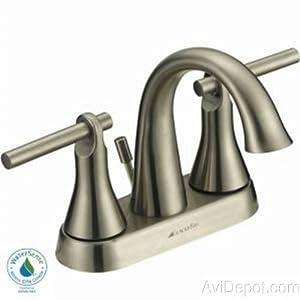 """Glacier Bay """"Toomba"""" Bath Faucet Brush Nickel 556909"""