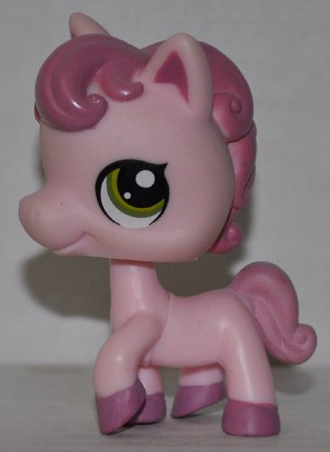 Horse #1331 (No Saddle: Pink, Purple Eyes) - Littlest Pet Shop (Retired) Collector Toy - LPS Collectible Replacement Figure - Loose (OOP Out of Package & Print) - 1