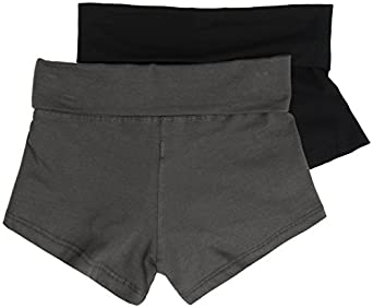 2 Pack Active Basic Women's Basic Fit Yoga Shorts Small Black, Charcoal