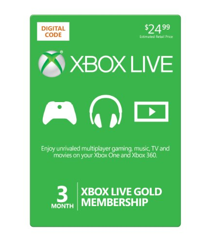 Buy Xbox Live 3 Month Gold Membership [Online Game Code]