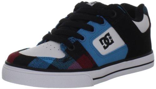 DC Shoes DC Shoes - Schuhe - PURE KIDS SHOE - D0301069A-BDWD - black D0301069A/2 - Zapatillas de skate de cuero para niño, Blue/Red, 37