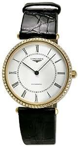 Longines La Grande Classique 18Kt Gold & Diamond Mens Ultra Thin Strap Watch L4.738.7.11.0