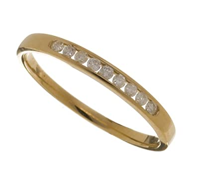 Ariel Ladies 9ct Yellow Gold Channel Set Diamond Eternity Ring