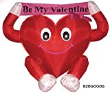 4 Foot Valentine's Inflatable Lovely Heart Be My Valentine - romantic Valentines Gifts for Couples, Cute Valentines Day Gift Ideas, Good Couple Gifts for Valentines, Romantic Anniversary Gifts
