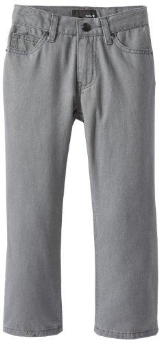 Hurley Little Boys' 5 Pocket Twill Pant, Coal, 4