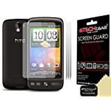 **PACK OF 3** - HTC DESIRE Screen Protector with cleaning cloth - Hi-TEC ESSENTIALS -by TECHGEAR